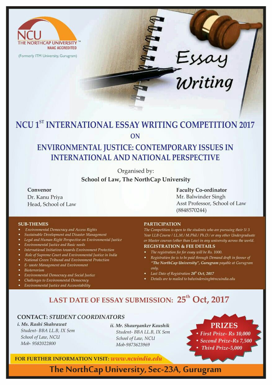 north cap university st international essay writing competition  share this