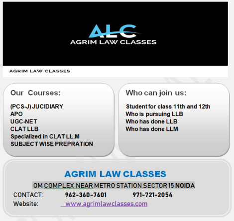 f87d5ea3e518 Agrim Law classes is one of the leading Institute in Noida which helps  students to make their career in various fields of Law. Agrim law classes  provides ...